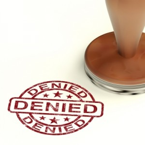 Rubber Stamp With Denied Word