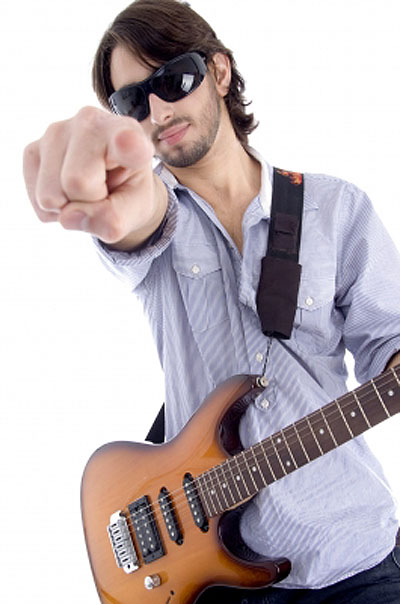 Rock Star Pointing At Viewer