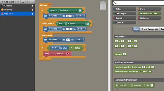 Stencyl game engine screen shot