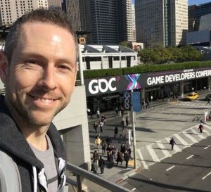 Jason W. Bay at the GDC Expo in San Francisco, CA